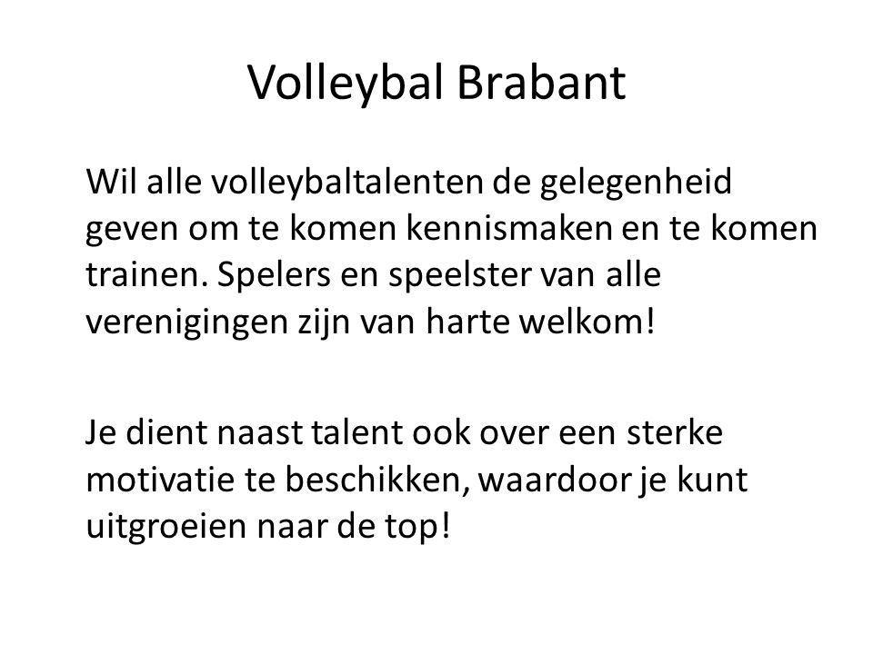 Volleybal Brabant