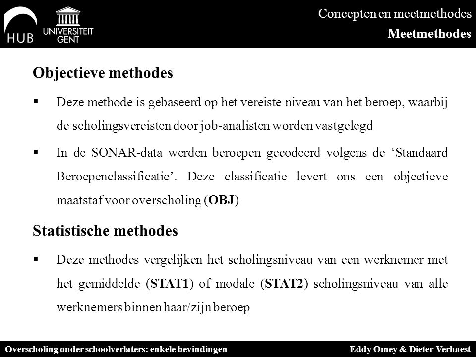 Statistische methodes