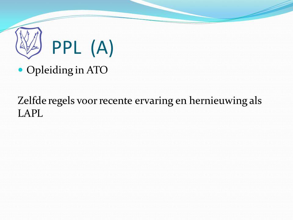 PPL (A) Opleiding in ATO