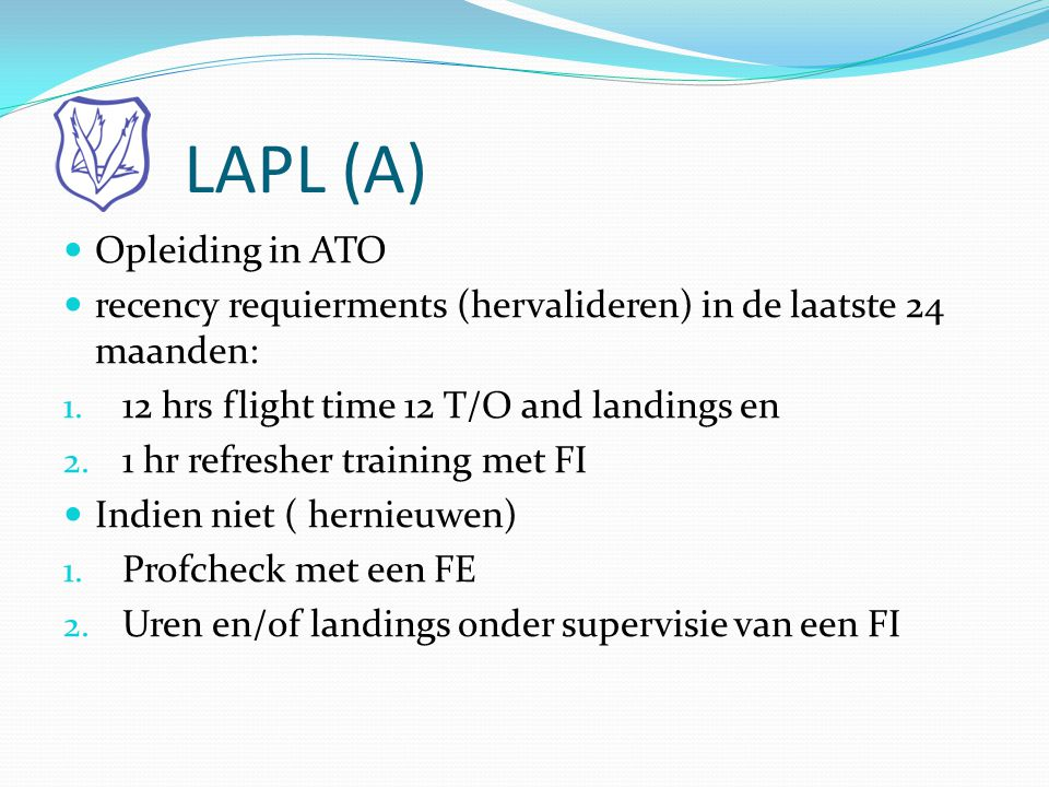 LAPL (A) Opleiding in ATO
