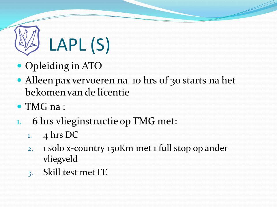 LAPL (S) Opleiding in ATO