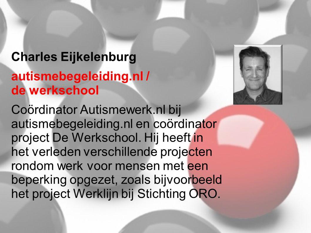 Charles Eijkelenburg autismebegeleiding.nl / de werkschool.