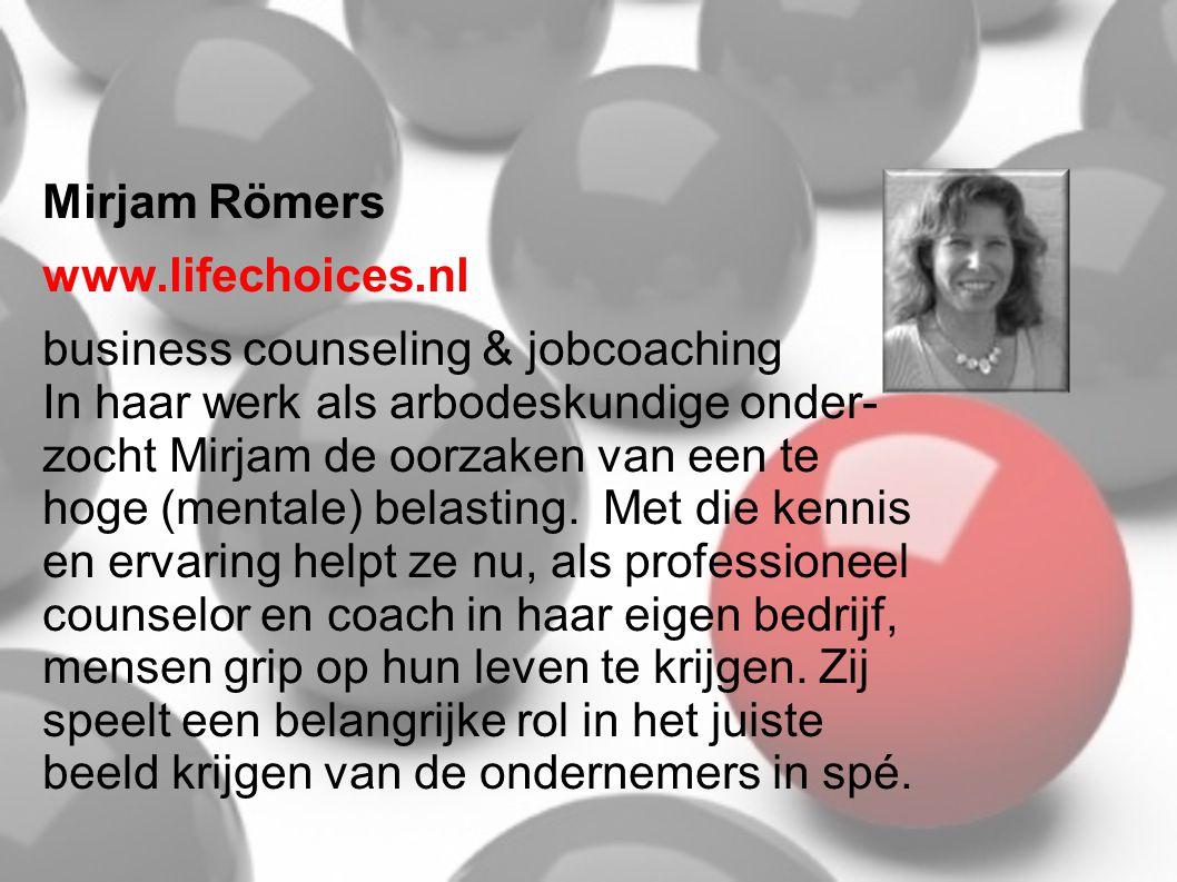 Mirjam Römers www.lifechoices.nl.