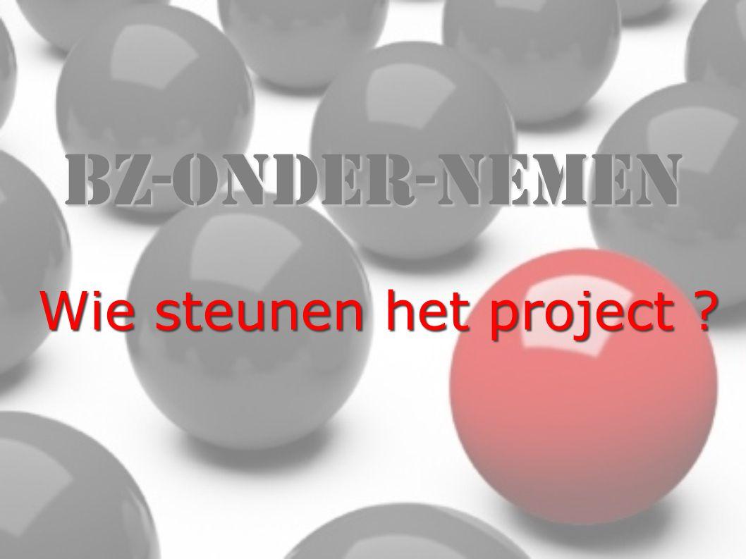BZ-Onder-Nemen Wie steunen het project