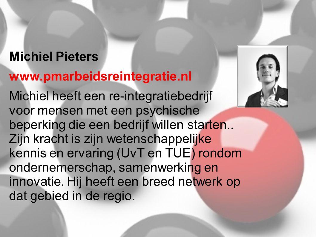 Michiel Pieters www.pmarbeidsreintegratie.nl.