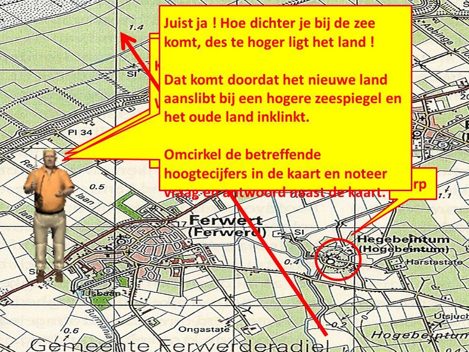 Zie de topografische kaart op blz 36 van je werkboek