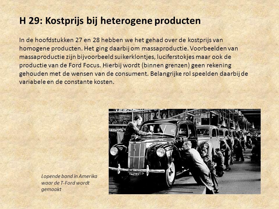 H 29: Kostprijs bij heterogene producten