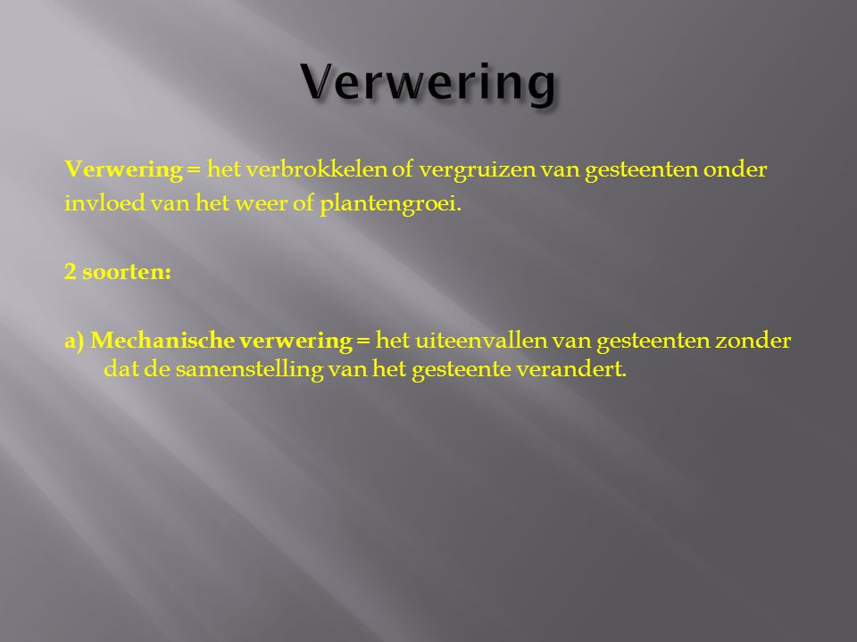Verwering
