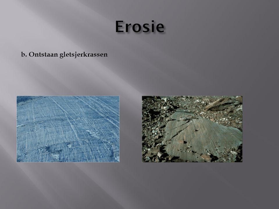 Erosie b. Ontstaan gletsjerkrassen