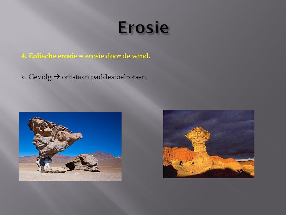 Erosie 4. Eolische erosie = erosie door de wind.
