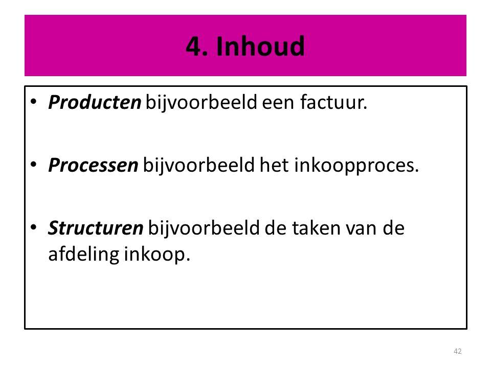 4. Inhoud Producten bijvoorbeeld een factuur.