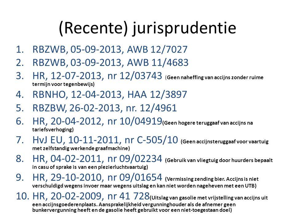 (Recente) jurisprudentie