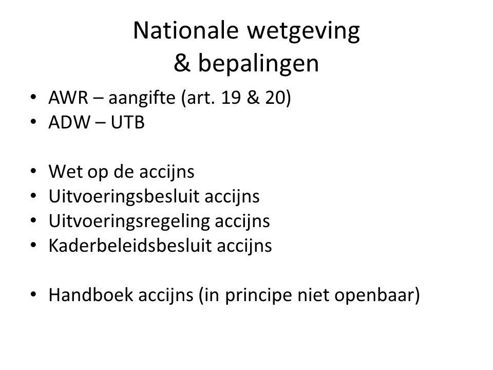 Nationale wetgeving & bepalingen