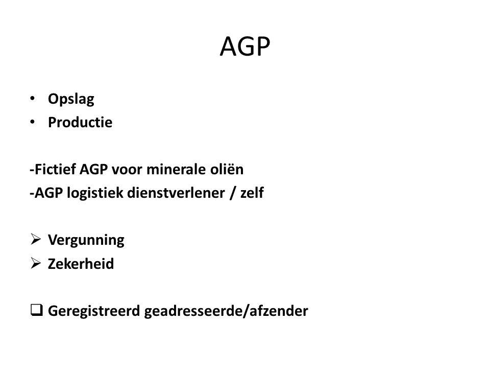 AGP Opslag Productie -Fictief AGP voor minerale oliën
