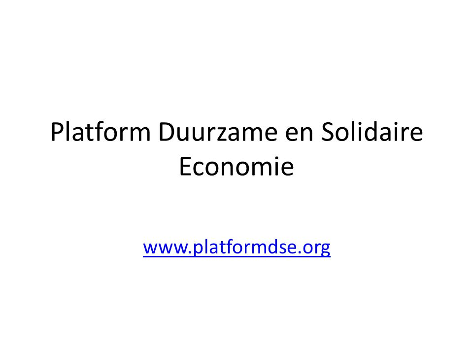Platform Duurzame en Solidaire Economie