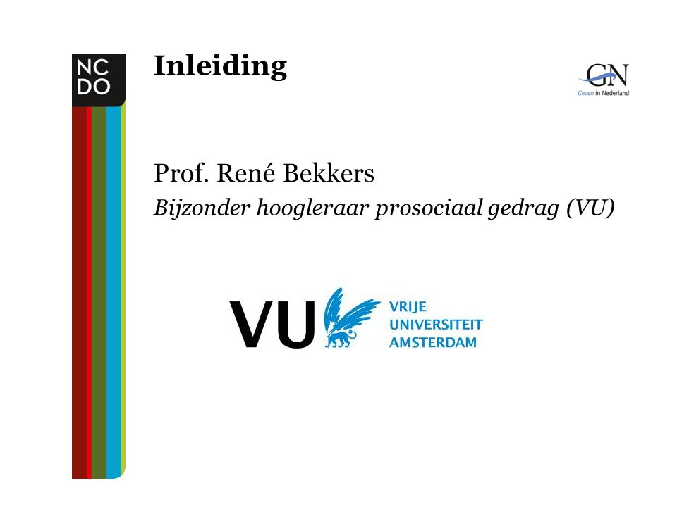 Inleiding Prof. René Bekkers