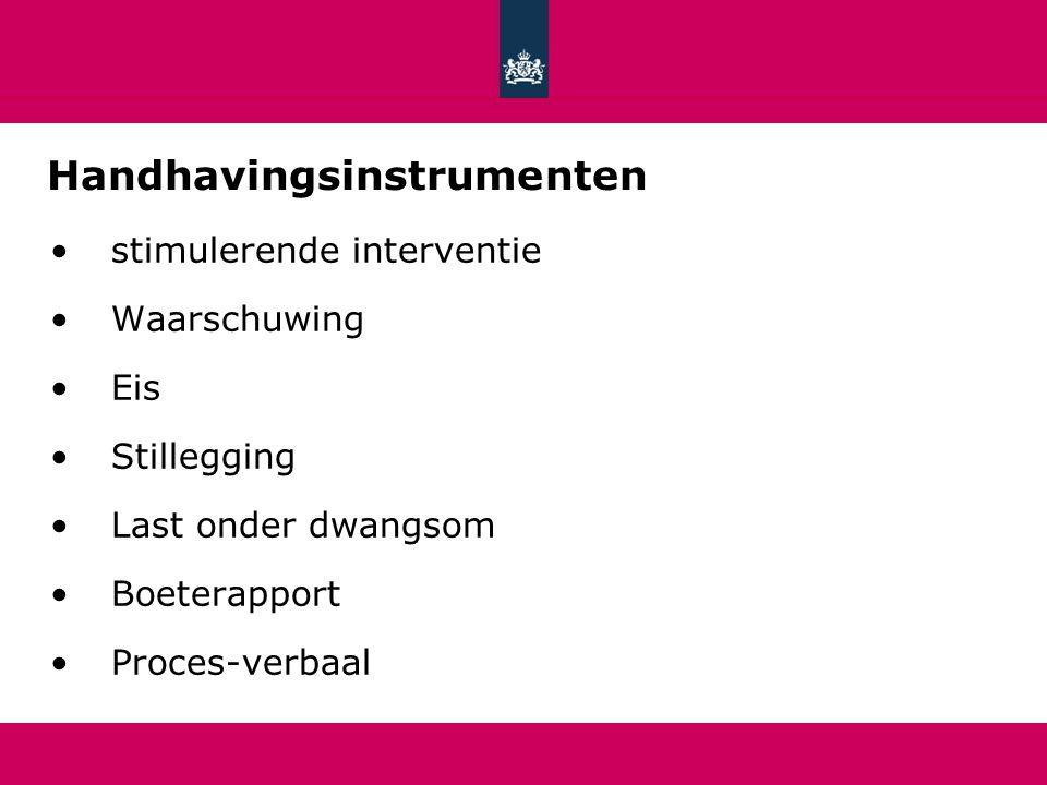 Handhavingsinstrumenten