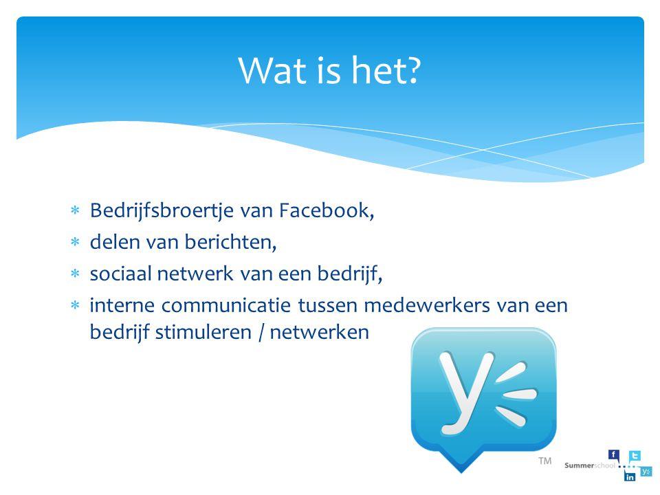 Wat is het Bedrijfsbroertje van Facebook, delen van berichten,