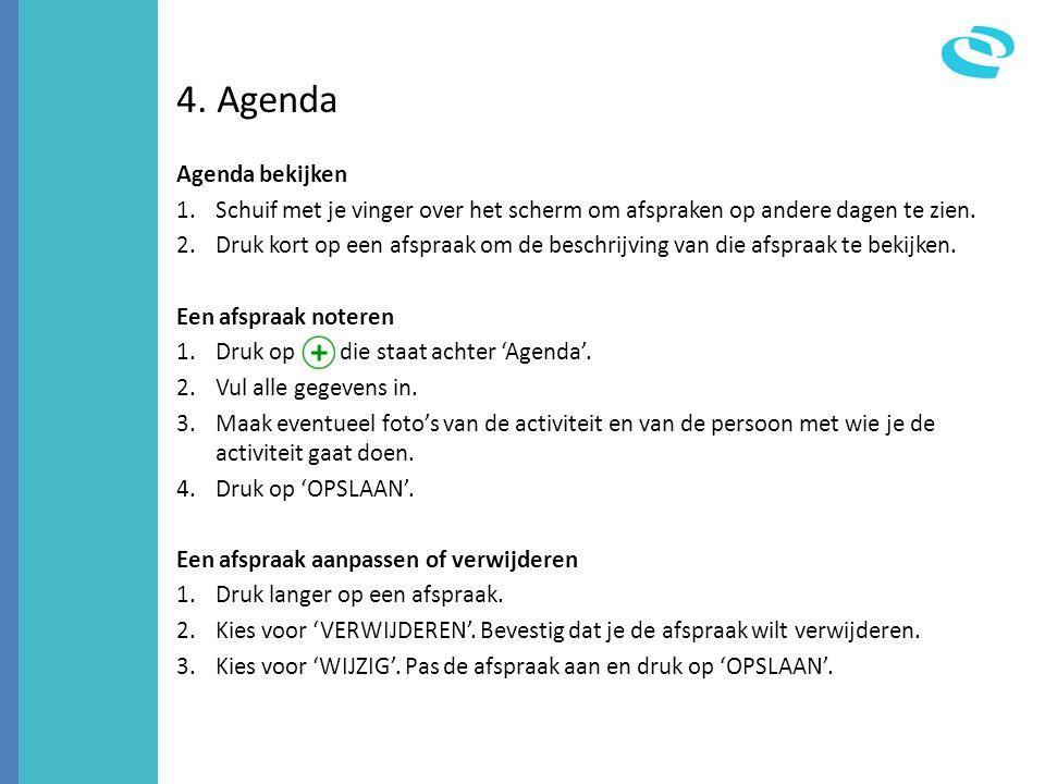 4. Agenda Agenda bekijken