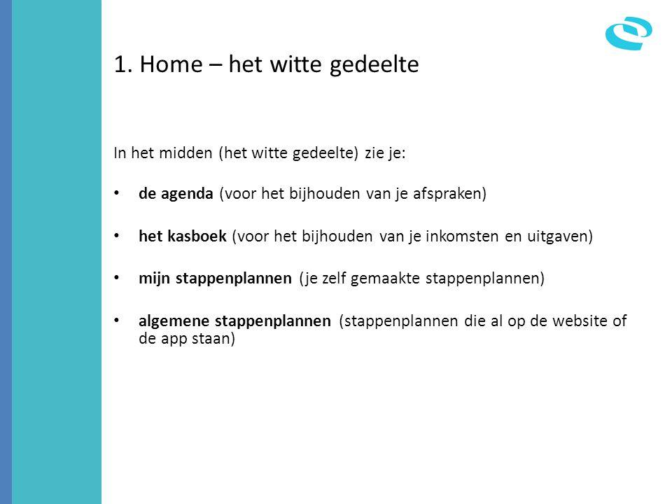 1. Home – het witte gedeelte