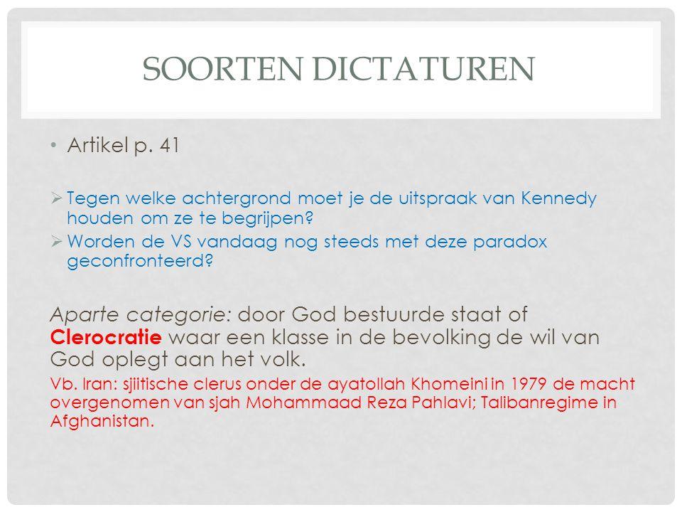 Soorten dictaturen Artikel p. 41