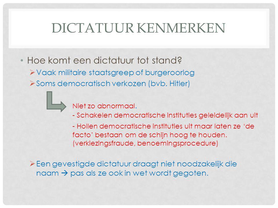 Dictatuur kenmerken Hoe komt een dictatuur tot stand
