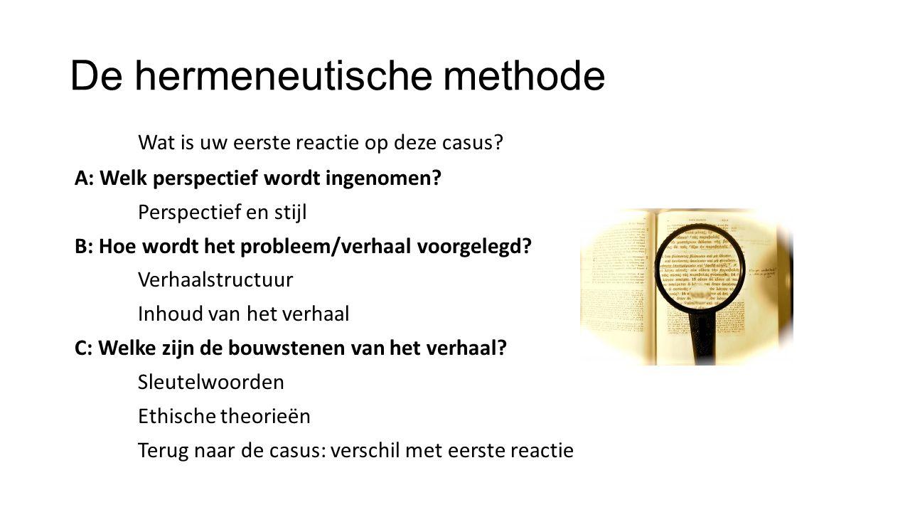 De hermeneutische methode