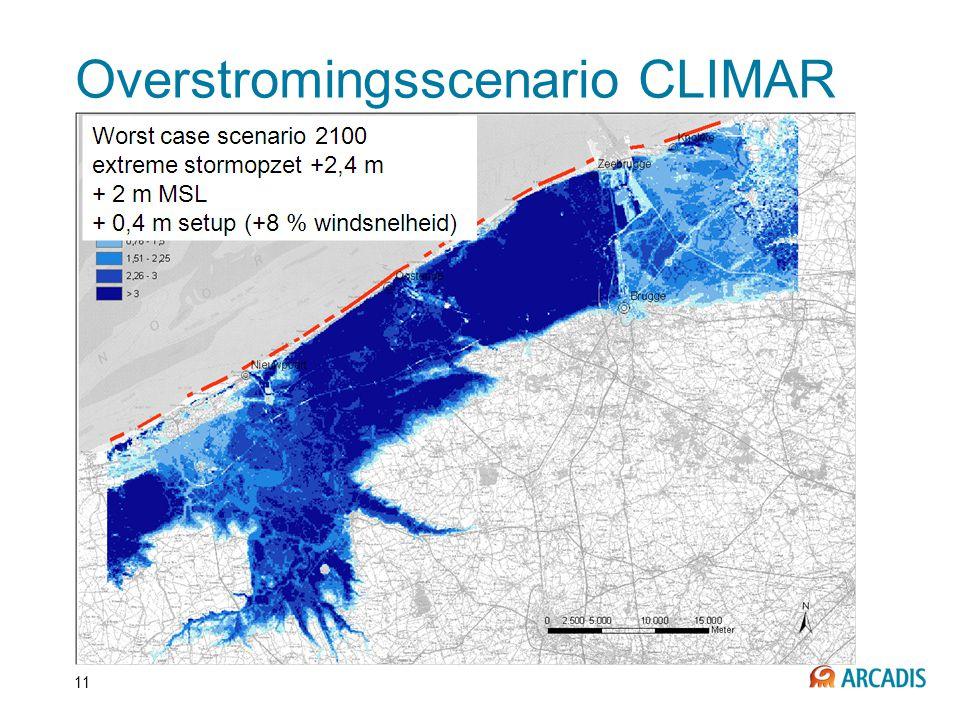 Overstromingsscenario CLIMAR