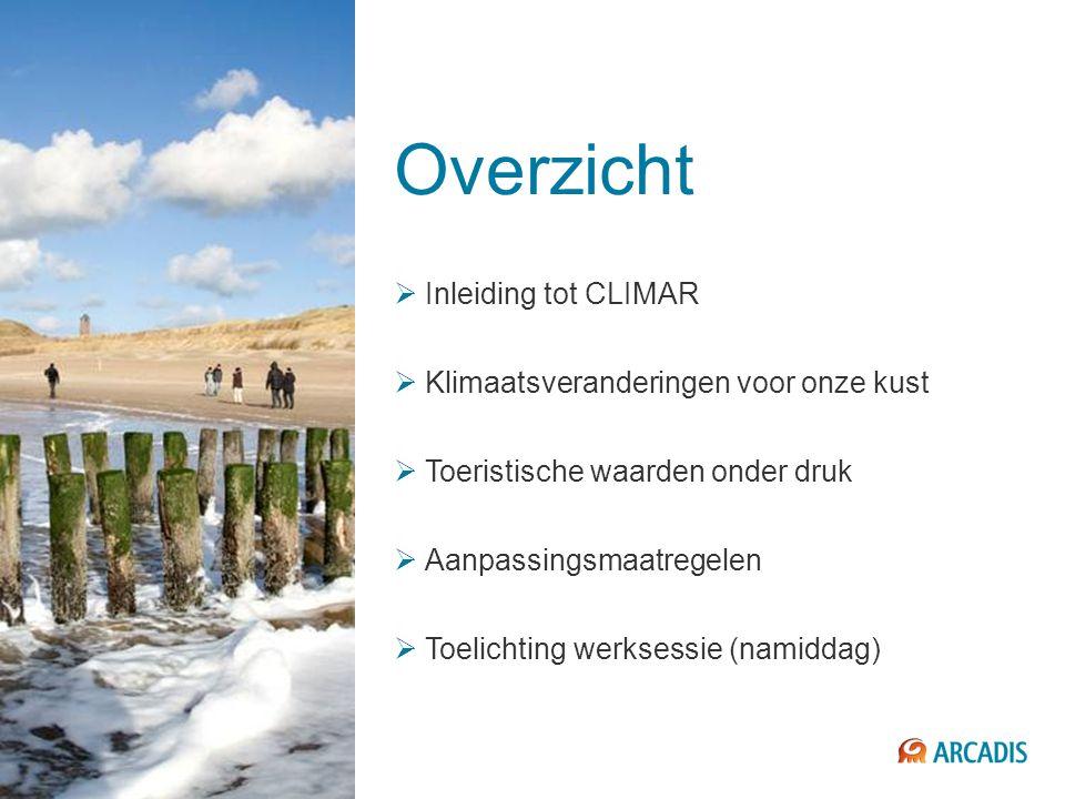 Overzicht Inleiding tot CLIMAR Klimaatsveranderingen voor onze kust