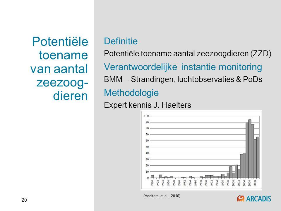Potentiële toename van aantal zeezoog-dieren