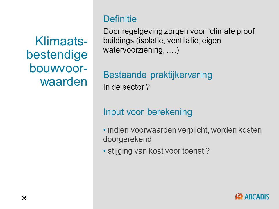 Klimaats-bestendige bouwvoor-waarden