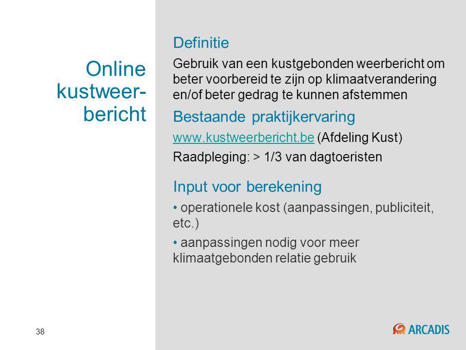 Online kustweer-bericht