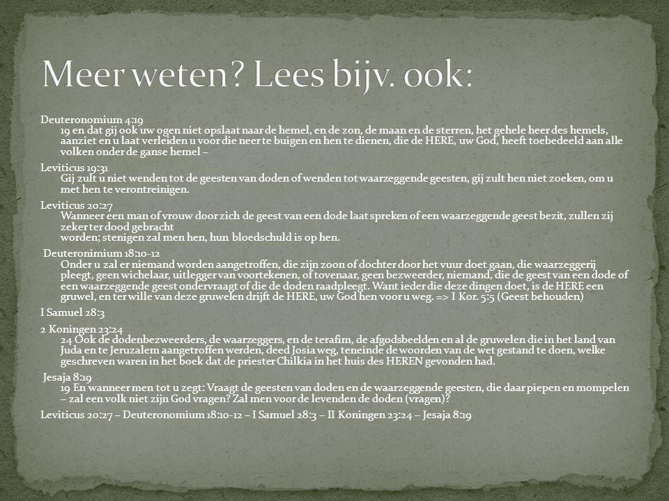 Meer weten Lees bijv. ook: