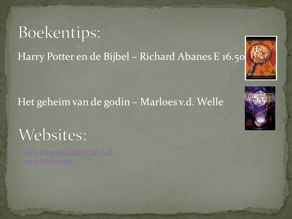 Boekentips: Websites: