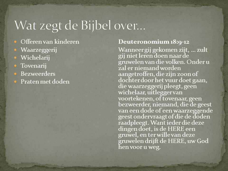 Wat zegt de Bijbel over…