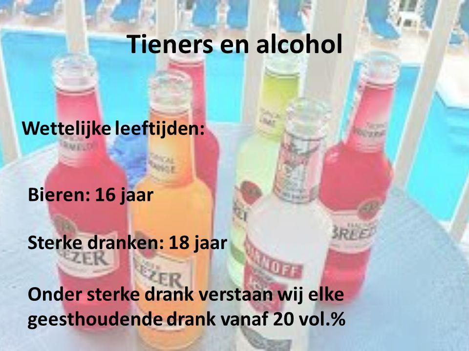 Tieners en alcohol Wettelijke leeftijden: Bieren: 16 jaar