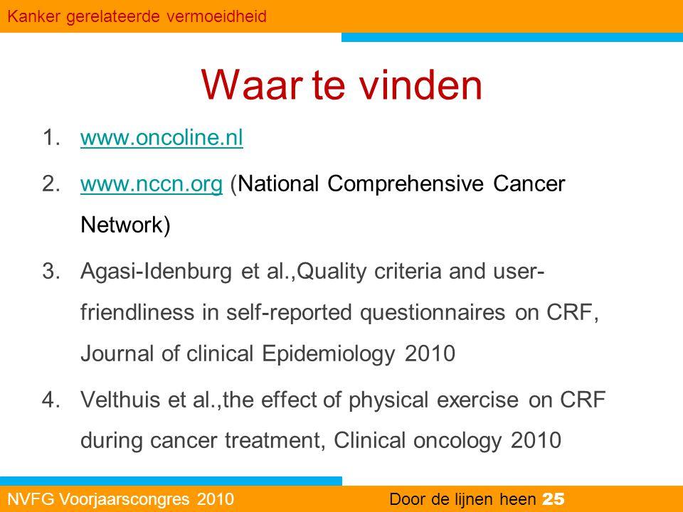 Waar te vinden www.oncoline.nl