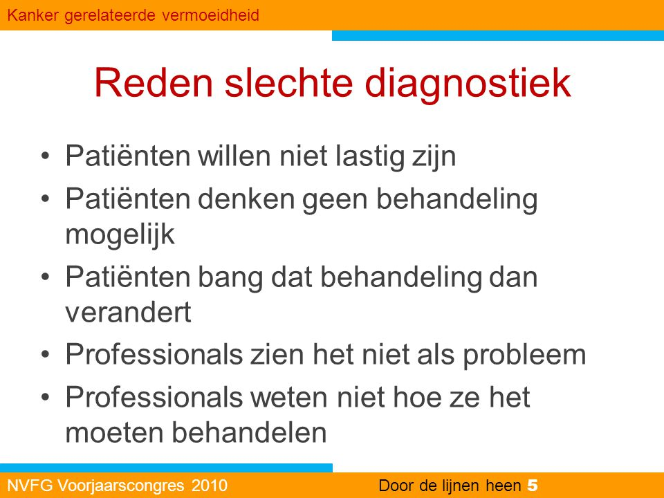 Reden slechte diagnostiek