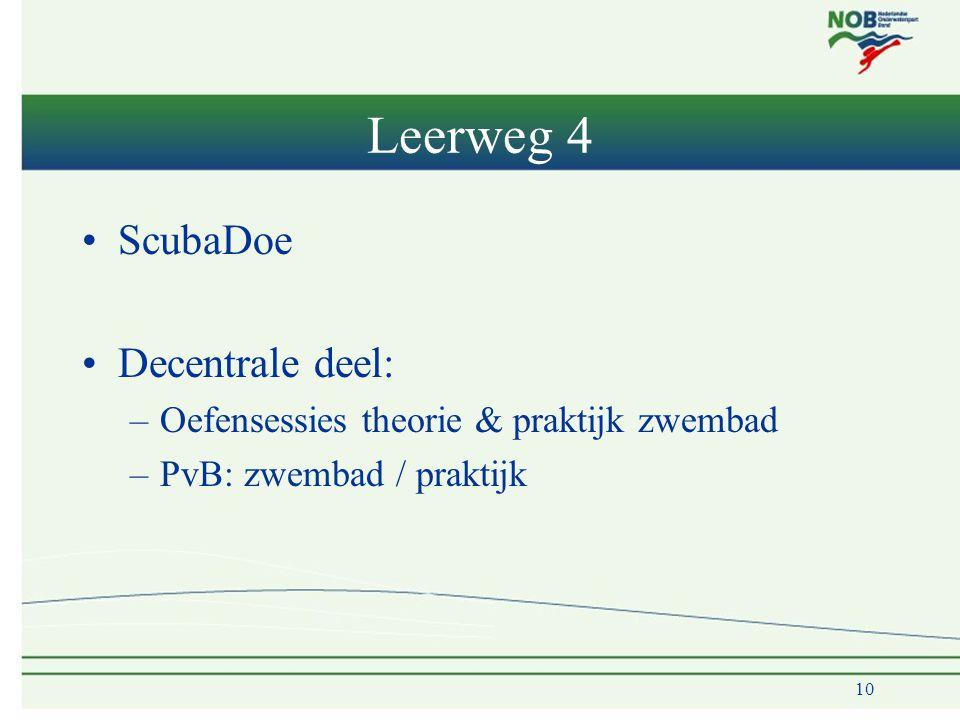 Leerweg 4 ScubaDoe Decentrale deel: