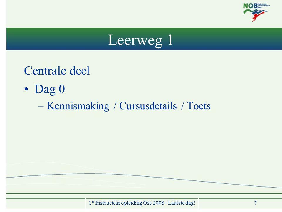 1* Instructeur opleiding Oss 2008 - Laatste dag!