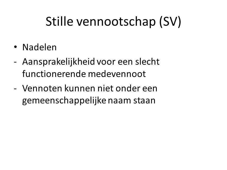 Stille vennootschap (SV)