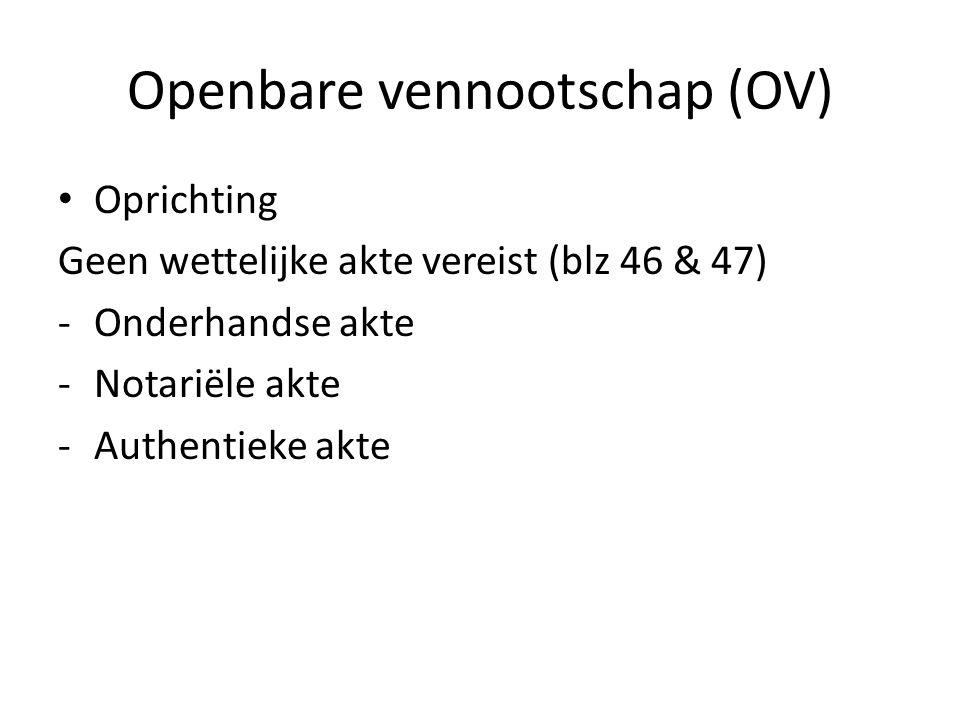 Openbare vennootschap (OV)