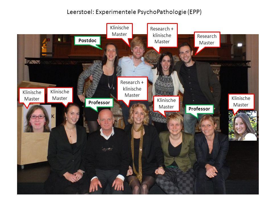 Leerstoel: Experimentele PsychoPathologie (EPP)
