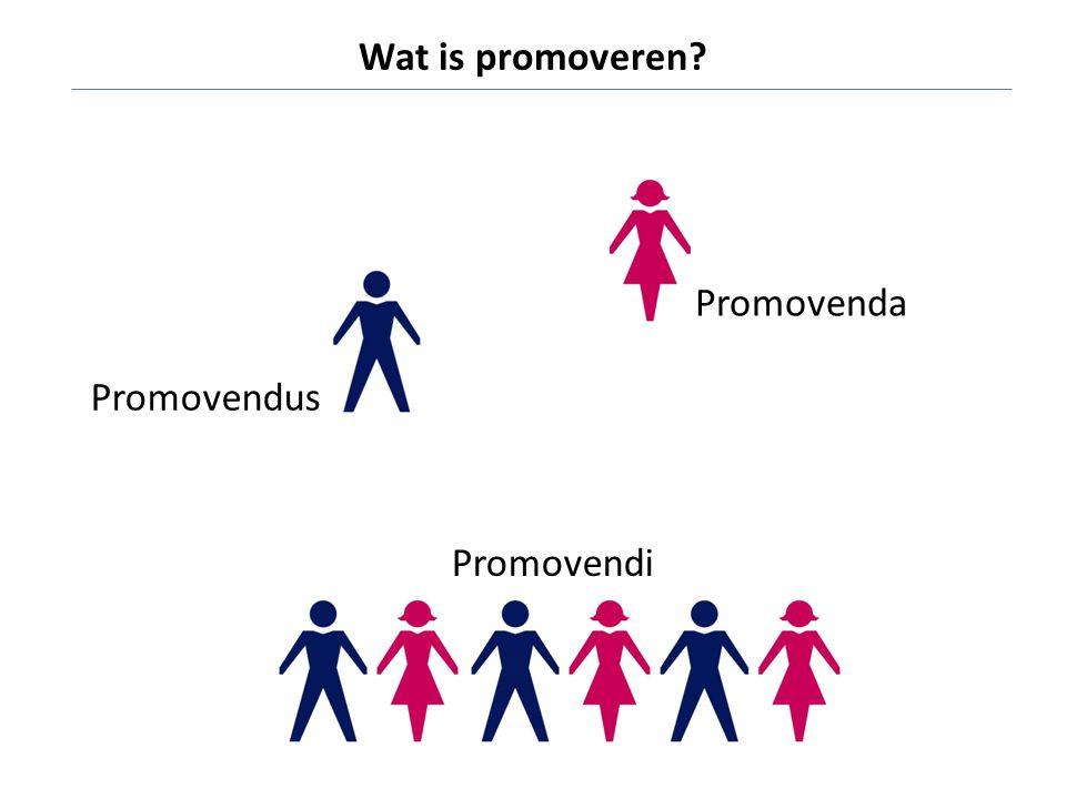 Wat is promoveren Promovenda Promovendus Promovendi