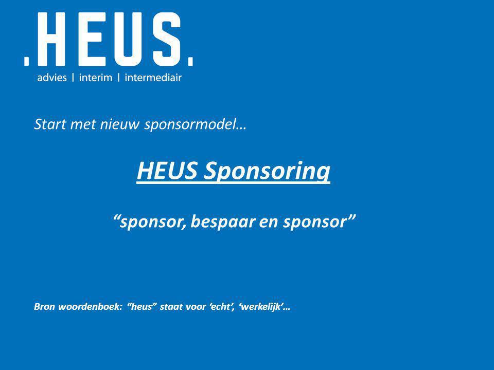 sponsor, bespaar en sponsor