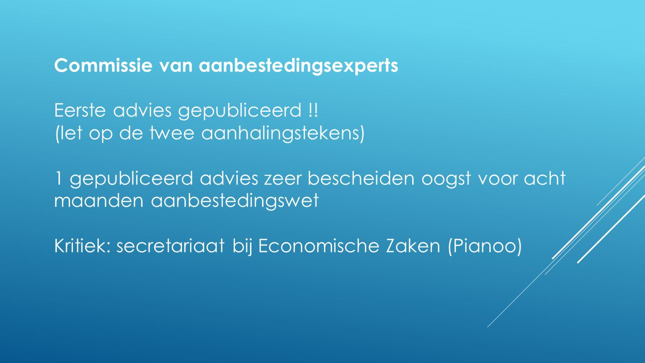 Commissie van aanbestedingsexperts