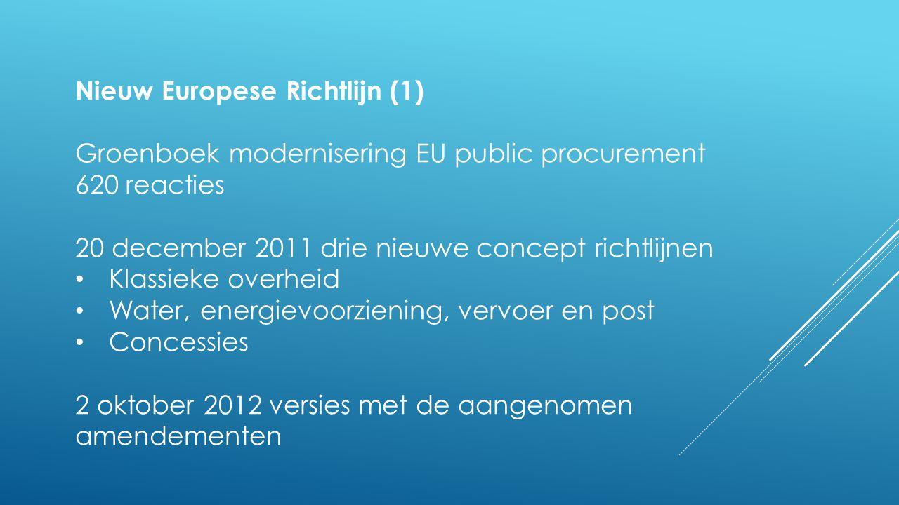 Nieuw Europese Richtlijn (1)