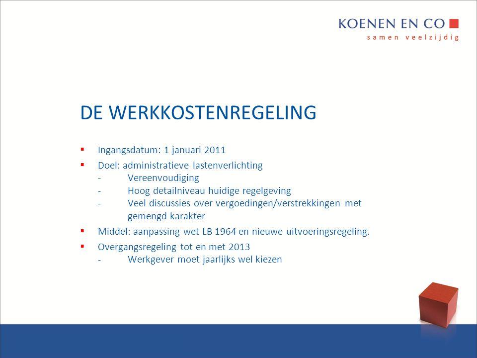 DE WERKKOSTENREGELING