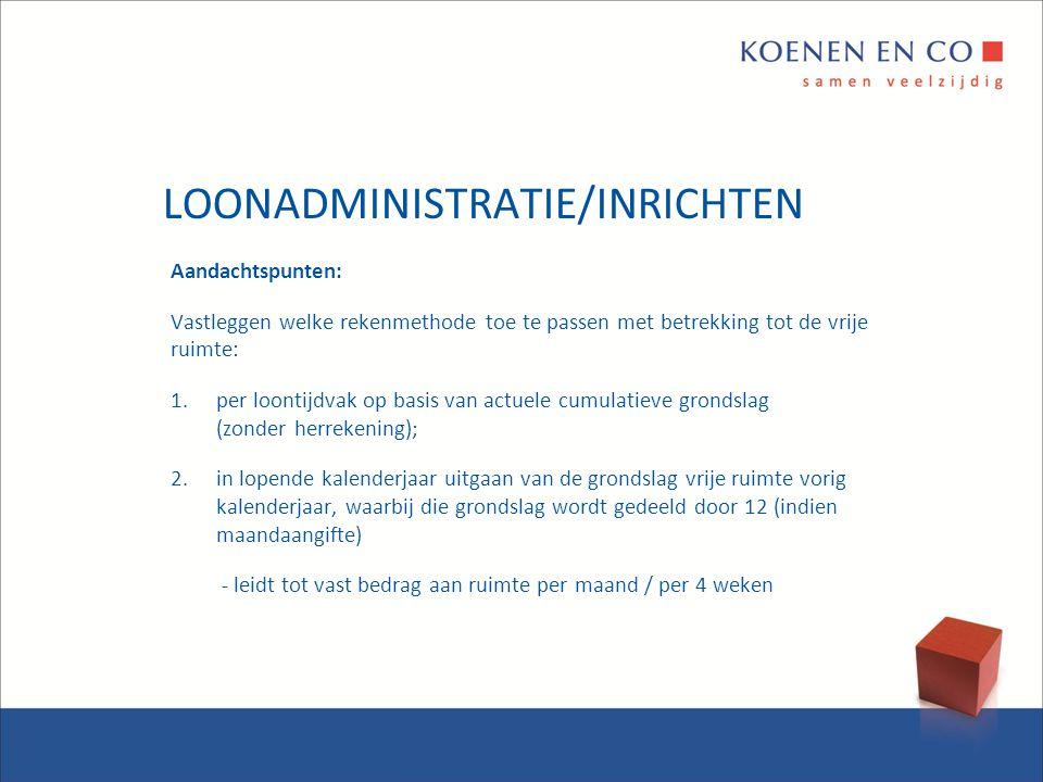 LOONADMINISTRATIE/INRICHTEN