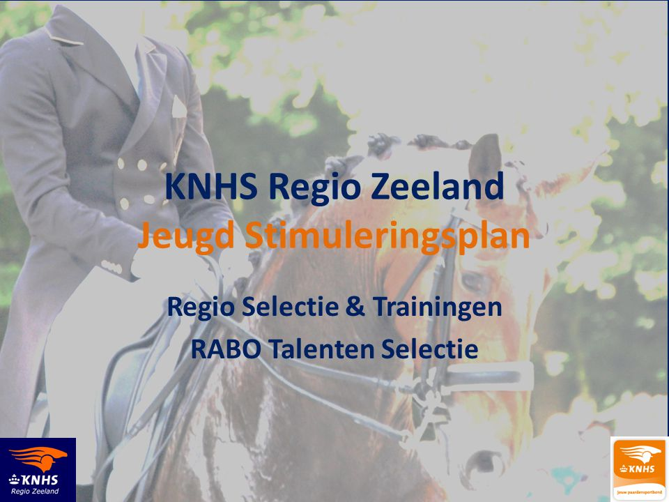 KNHS Regio Zeeland Jeugd Stimuleringsplan